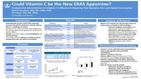 Does Vitamin C Have Analgesic Post-op Potential?  More from AANA 2020 Virtual Congress