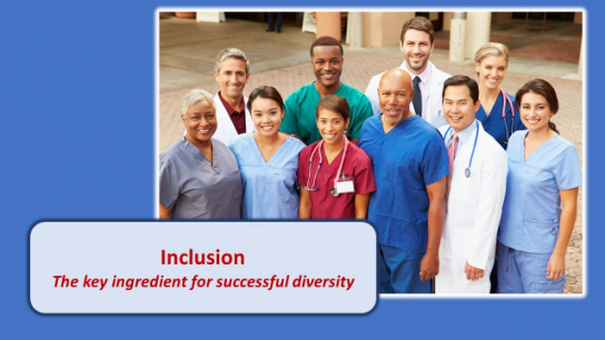 Inclusion; The key ingredient for successful diversity